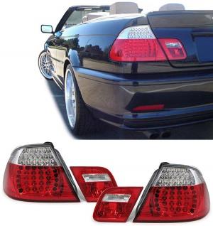 LED Rückleuchten rot klar Facelift Optik für BMW 3ER E46 Cabrio 00-07