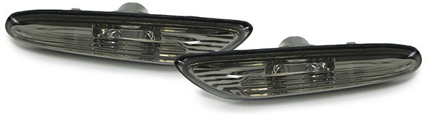 Seitenblinker schwarz smoke für BMW 3ER E46 00-01 5er E60 E61 03-10 X3 E83 04-10 - Vorschau 1