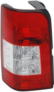 Rückleuchte / Heckleuchte rot weiß links TYC für Peugeot Partner 05-08
