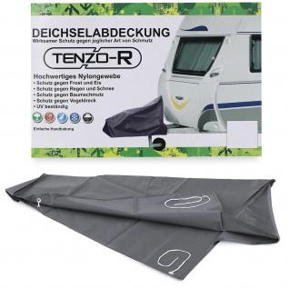 Wohnwagen Caravan Deichselhaube Deichselabdeckung Deichselhülle Schutz Grau