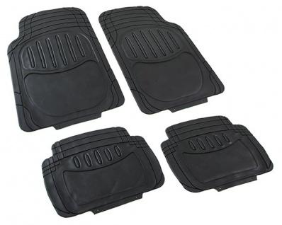 Universal Auto Gummi Fußmatten Set NBR 4-teilig zuschneidbar schwarz