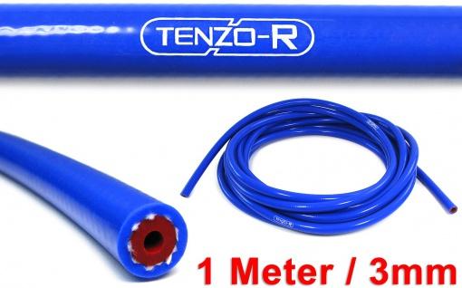 Tenzo-R Performance Silikon Schlauch verstärkt Länge 1M blau 3mm