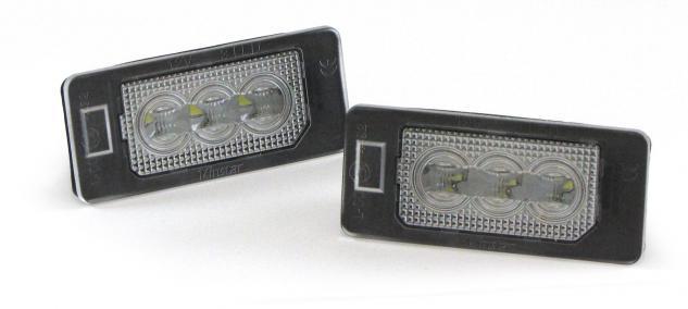 LED KENNZEICHENBELEUCHTUNG HIGH POWER WEISS 6000K FÜR BMW X6 E71 E72 ab Bj. 2008