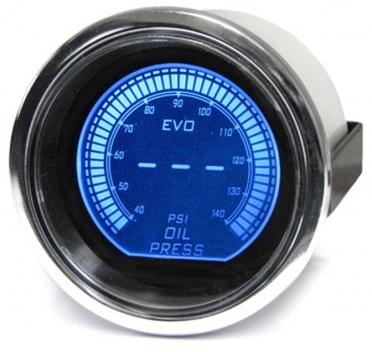Öldruck LED Anzeige LCD Zusatz Instrument rot blau 52mm Tenzo XTR