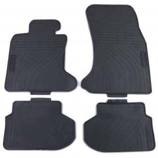 Premium Gummi Fußmatten Set Schwarz für BMW 5er F10 Limousine F11 Touring ab 10