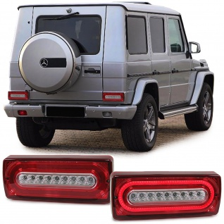 Dynamic LED Lightbar Rückleuchten rot klar für Mercedes G Klasse G Modell W463