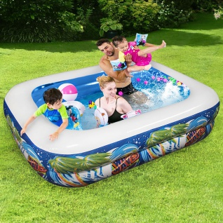 Kinder Pool HAWAII Swimmingpool Planschbecken gepolstert Rechteckig 110x80x35cm