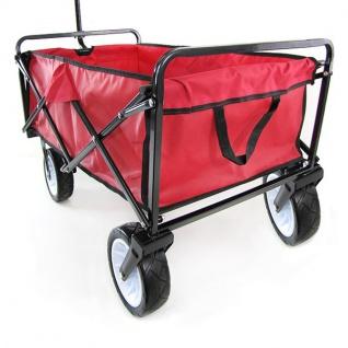 Garten Transport Faltwagen Handwagen Bollerwagen klappbar bis 80kg rot - Vorschau 4