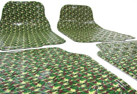 Auto Gummi Fußmatten universal Alu Riffelblech Optik Military Tarnfarbe
