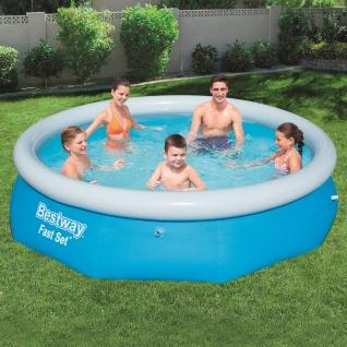 BESTWAY Fast Set Pool Swimmingpool Rund Schnellaufbau 305x76cm
