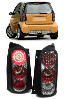 LED Rückleuchten schwarz - lackierbar für Smart ForTwo MC01 / 450 98-04