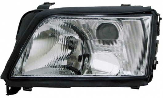 H1 / H1 Scheinwerfer links TYC für Audi A6 C4 94-97