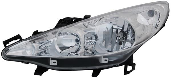 H1 / H7 Scheinwerfer links TYC für Peugeot 207 06-