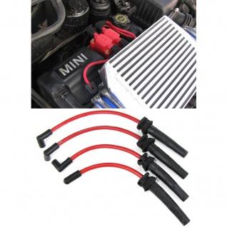 Silikon Sport Zündkabel Zündleitungssatz Rot Set für Mini R50 R52 R53 01-06