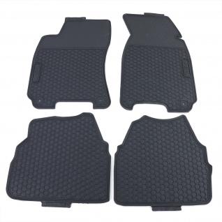 Premium Gummi Fußmatten Set 4-teilig Schwarz für VW Passat 3C5 B6 05-10