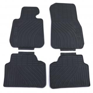 Premium Gummi Fußmatten Set Schwarz für BMW 3er F30 Limousine F31 Touring ab 10