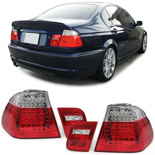 LED Rückleuchten rot klar Facelift Optik für BMW 3ER E46 Limousine 98-01