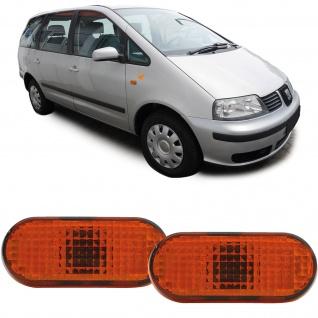 Seitenblinker orange Paar TYC für Ford Galaxy Seat Ibiza 2 Inca Alhambra Cordoba