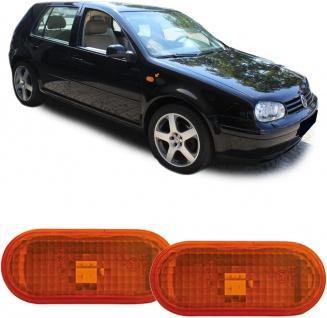 Seitenblinker orange Paar für Ford Galaxy 00-06 Seat Alhambra 7V Arosa 6H - Vorschau 2