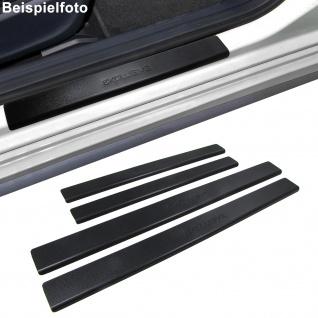 Edelstahl Trittschutz Einstiegsleisten Exclusive schwarz für Dacia Logan ab 04