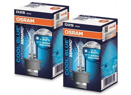 Osram Xenarc Cool Blue Intense D2S 35W 85V Xenon Brenner 2 Stück IM Set