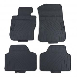 Premium Gummi Fußmatten Set 4-teilig Schwarz für BMW X1 E84 09-15