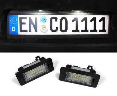 LED Kennzeichenbeleuchtung weiß 6000K für Audi A1 A4 A5 A6 A7 Q5 S4 S5 S6 S7 TT