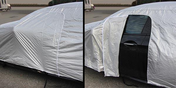 Auto Vollgarage Ganzgarage Autogarage Plane Autoabdeckung mit Türausschnitt L - Vorschau 4