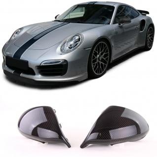 Echt Carbon Spiegel Kappen zum Austausch für Porsche 911 991 Facelift ab 15