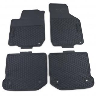 Premium Gummi Fußmatten Set Schwarz für VW Golf 4 Limousine Variant 97-07