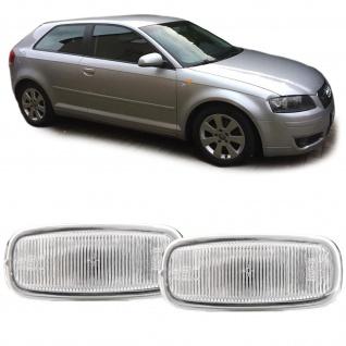 Seitenblinker weiß Paar für Audi A8 4G A4 8D2 A3 8L A6 C5 TT 8N A2