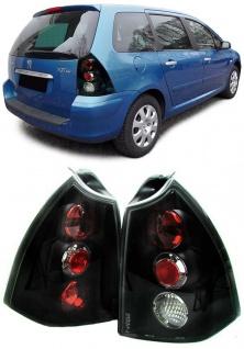Klarglas Rückleuchten schwarz für Peugeot 307 SW Break Kombi 01-05