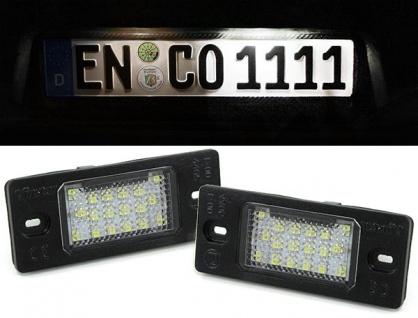 *** LED Kennzeichenbeleuchtung weiß 6000K für VW Tiguan Golf 5 Porsche Cayenne