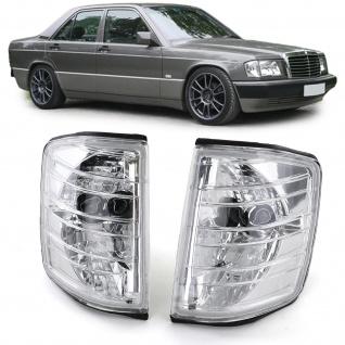 Klarglas Blinker Chrom für Mercedes 190 W201 82-93