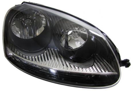 H7 H7 GTI Scheinwerfer schwarz rechts für VW Golf 5 + Jetta 3