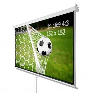 Beamer Projektor Heimkino Rollo Leinwand HDTV 152x152 CM für 1:1 4:3 16:9 - Vorschau 1