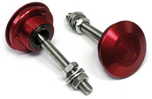 Alu Motorhauben Schnellverschluss Verriegelung Rennsport rot - Vorschau 3