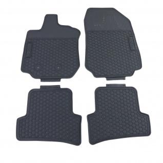 Premium Gummi Fußmatten Set 4-teilig Schwarz für Renault Clio 3 BR CR ab 05