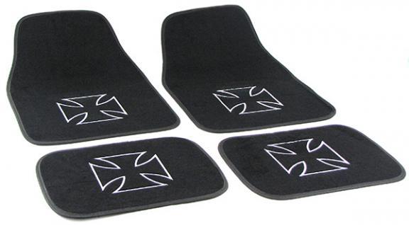 Auto Velours Fußmatten Iron Cross Eisernes Kreuz universal 4-teilig - Vorschau 2