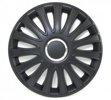 Radkappen Radzierblenden für Stahlfelgen Set Tenzo-R III 15 Zoll schwarz chrom