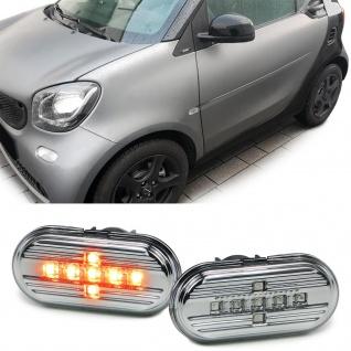 LED Klarglas Seitenblinker Chrom für Smart Fortwo 453 ab 14