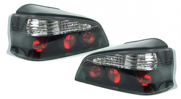 Klarglas Rückleuchten schwarz für Peugeot 106 ab 96