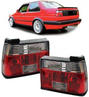 Klarglas Rückleuchten rot klar Kristall für VW Jetta 84-92