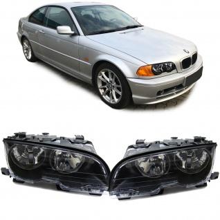 Scheinwerfer H7 H7 schwarz Paar für BMW 3er E46 Coupe Cabrio 99-03