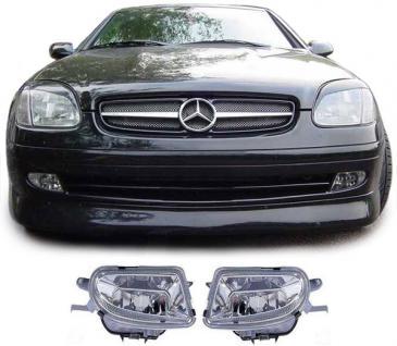 Klarglas Nebelscheinwerfer H1 für Mercedes SLK R170 + CLK W208 + E Klasse W210