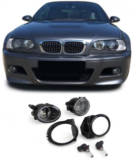 Klarglas Nebelscheinwerfer HB4 mit Halter Paar passt für BMW E39 M5 E46 M3
