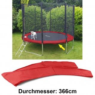 Sicherheits Schutz Rand Abdeckung für Trampolin Sprungfedern 366 CM Rot