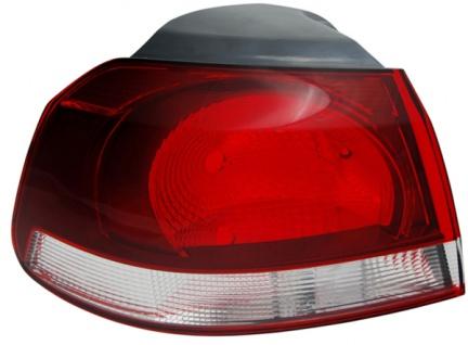 Rückleuchte / Heckleuchte Aussen schwarz smoke links TYC für VW Golf VI 08-