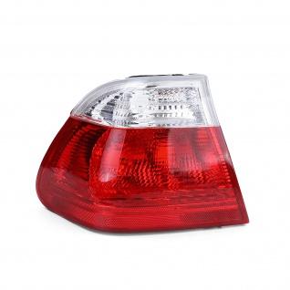 Rückleuchte Aussen Rot Weiß Klar Links für BMW 3er E46 Limousine 98-01