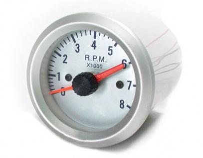 Drehzahlmesser Zusatz Instrument 52mm silber